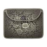 manga del macbook de los ornamentos florales del v fundas macbook pro