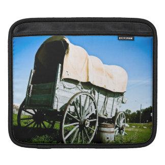 Manga del oeste vieja del carrito del carro cubier fundas para iPads