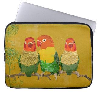 Manga del ordenador de los pájaros del amor del or fundas computadoras