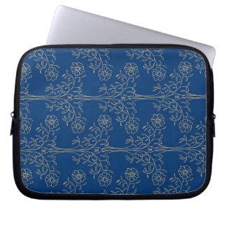Manga del ordenador portátil, azul marino fundas portátiles