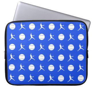 Manga del ordenador portátil de Fastpitch del azul Mangas Computadora
