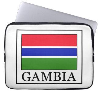 Manga del ordenador portátil de Gambia Fundas Portátiles