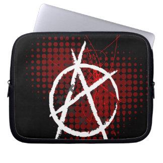 Manga del ordenador portátil de la anarquía fundas computadoras