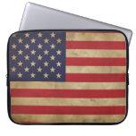 Manga del ordenador portátil de la bandera america fundas computadoras