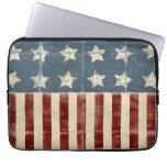 Manga del ordenador portátil de la bandera america fundas portátiles