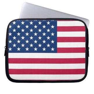 Manga del ordenador portátil de la bandera de los fundas ordendadores