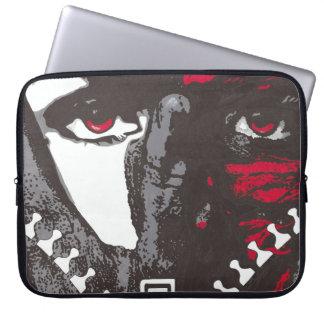 Manga del ordenador portátil de la cara de la mangas computadora