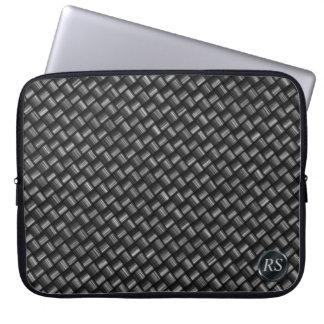 Manga del ordenador portátil de la fibra de carbon fundas computadoras