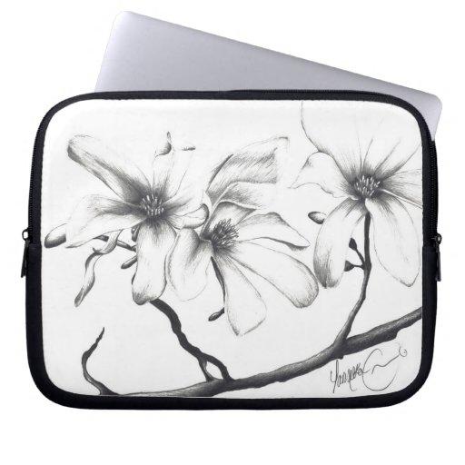 Manga del ordenador portátil de la flor de cerezo funda ordendadores