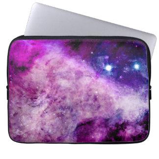 Manga del ordenador portátil de la galaxia púrpura funda computadora
