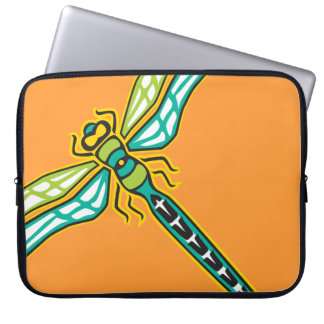 Manga del ordenador portátil de la libélula fundas portátiles