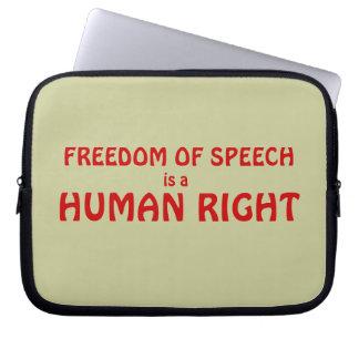 Manga del ordenador portátil de la libertad de exp funda ordendadores