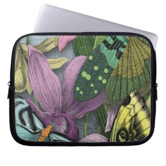 Manga del ordenador portátil de la mariposa funda computadora