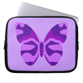 Manga del ordenador portátil de la mariposa fundas computadoras