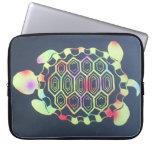 Manga del ordenador portátil de la tortuga funda ordendadores