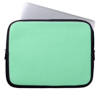 Manga del ordenador portátil de la verde menta manga computadora