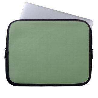 Manga del ordenador portátil de la verde salvia manga computadora