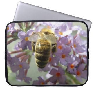 Manga del ordenador portátil de las flores de la a fundas ordendadores