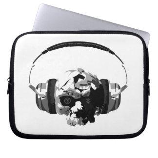 manga del ordenador portátil de los auriculares de fundas computadoras