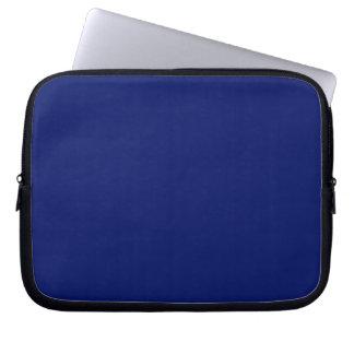 Manga del ordenador portátil de los azules marinos fundas portátiles