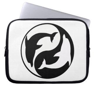 Manga del ordenador portátil de los delfínes de funda ordendadores