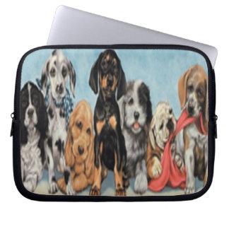 Manga del ordenador portátil de los perros funda ordendadores