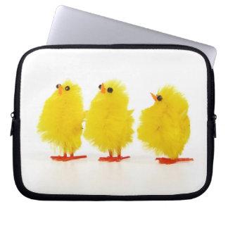 Manga del ordenador portátil de los polluelos del  fundas computadoras