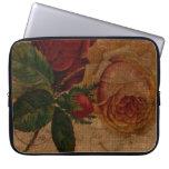 Manga del ordenador portátil de los rosas rojos de funda ordendadores