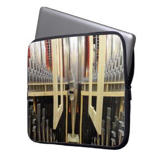 Manga del ordenador portátil de los tubos de órgan funda computadora
