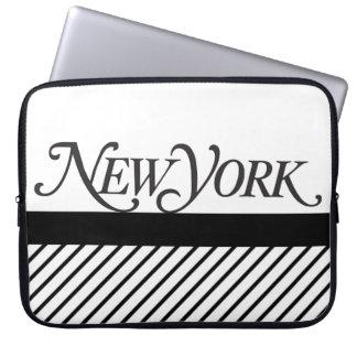 Manga del ordenador portátil de Nueva York Funda Ordendadores