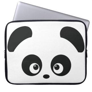 Manga del ordenador portátil de Panda® del amor Fundas Portátiles