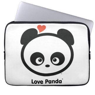 Manga del ordenador portátil de Panda® del amor Funda Computadora