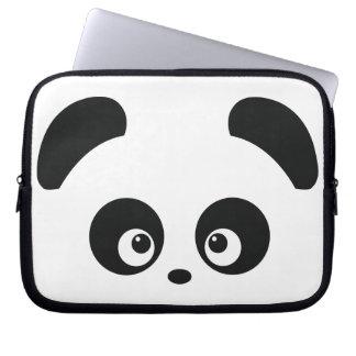 Manga del ordenador portátil de Panda® del amor Funda Portátil