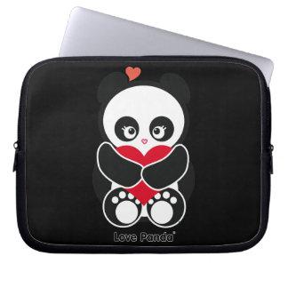 Manga del ordenador portátil de Panda® del amor Fundas Ordendadores