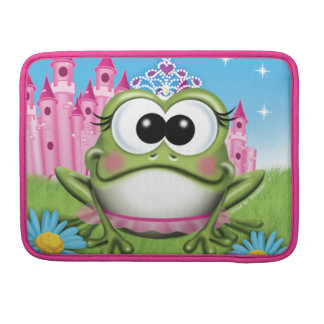 Manga del ordenador portátil de princesa Frog Fundas Para Macbooks
