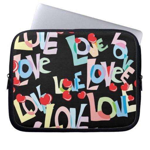Manga del ordenador portátil del amor funda portátil
