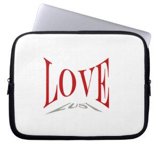 Manga del ordenador portátil del amor o de la luju fundas computadoras