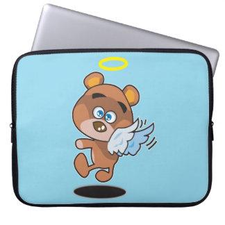 Manga del ordenador portátil del ángel del oso fundas ordendadores