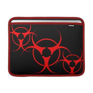 Manga del ordenador portátil del Bio-peligro del c Fundas MacBook