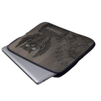 Manga del ordenador portátil del búho de Steampunk Funda Ordendadores