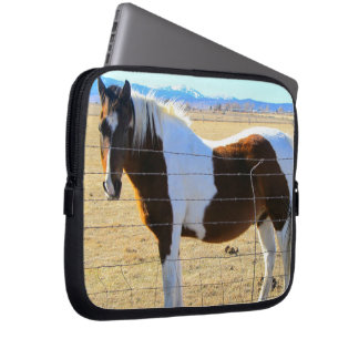 Manga del ordenador portátil del caballo funda portátil