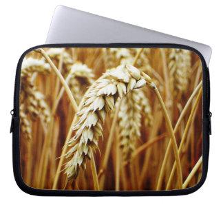 Manga del ordenador portátil del campo de trigo fundas computadoras