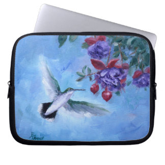 Manga del ordenador portátil del colibrí en vuelo manga computadora