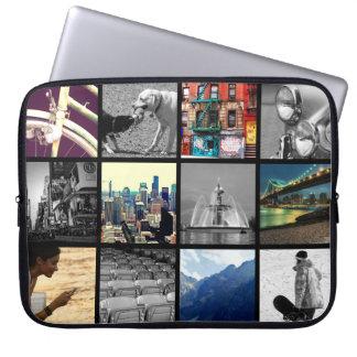 Manga del ordenador portátil del collage de la funda ordendadores