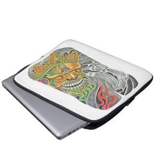 Manga del ordenador portátil del cráneo fundas computadoras