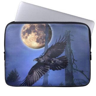 Manga del ordenador portátil del cuervo y de la lu funda portátil