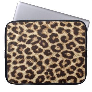 Manga del ordenador portátil del estampado leopard funda ordendadores