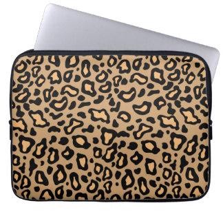 Manga del ordenador portátil del estampado leopard mangas portátiles