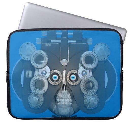 Manga del ordenador portátil del examen de la vist mangas portátiles