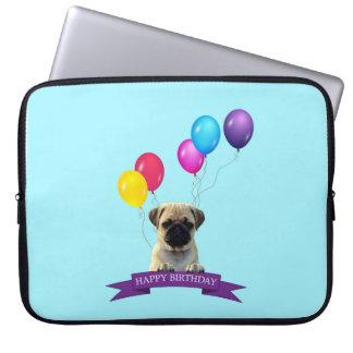 Manga del ordenador portátil del feliz cumpleaños fundas ordendadores